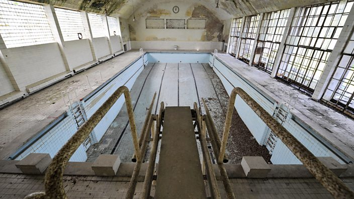 An abandoned pool from the 1936 Berlin Olympic Village.