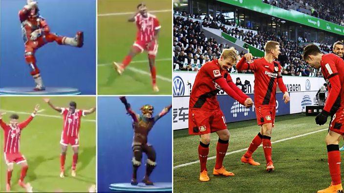 German footballers celebrate with Fortnite re-enactments