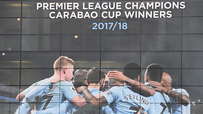 Manchester City Premier League title celebration