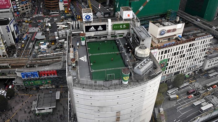 Rooftop football pitch, Tokyo