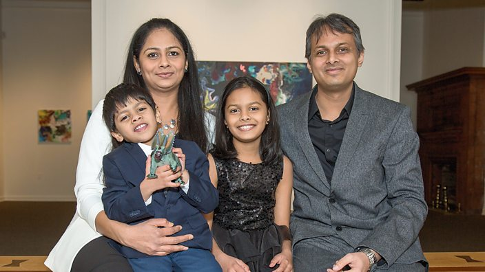 Advait with his family