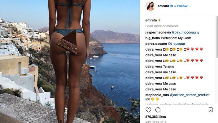 Emily Ratajkowski posted a bikini selfie on her Instagram