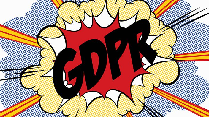 Pop Art-style explosion with text saying GDPR on top of it
