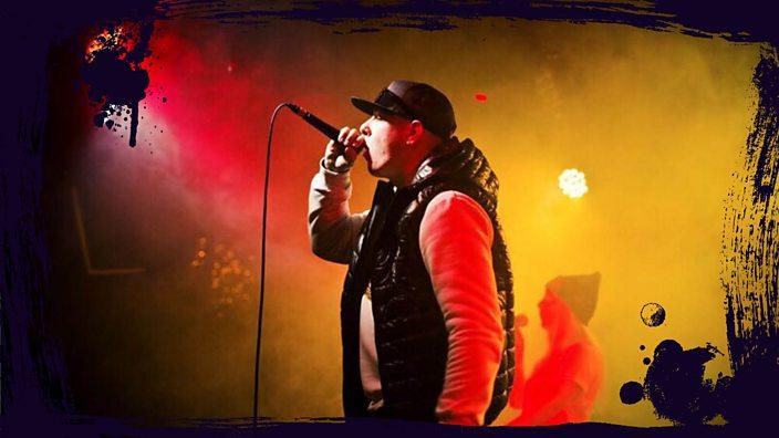 Wythenshawe rapper Black Jack performing