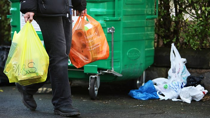 The 5p plastic bag charge was introduced in October 2015