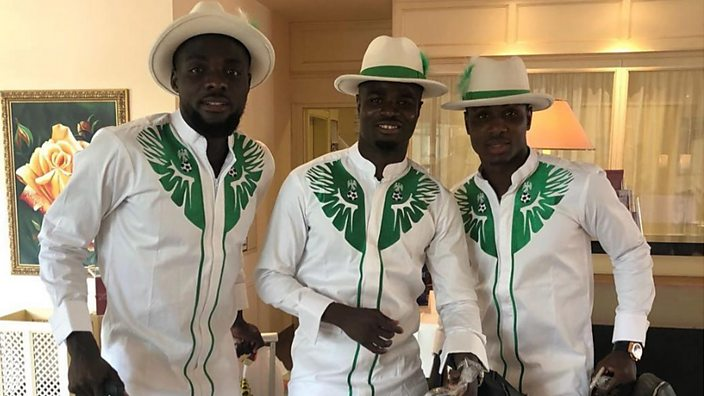 The Nigerian team arrives in Russia
