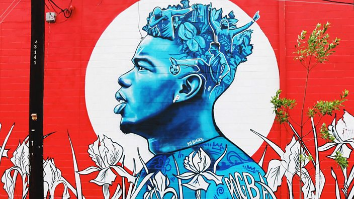 Paul Pogba mural in New Orleans