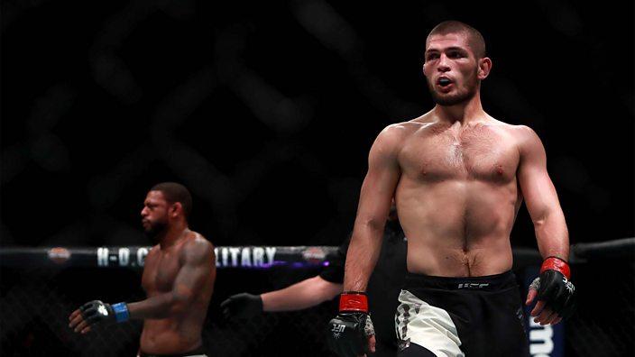 Khabib Nurmagomedov at UFC 205