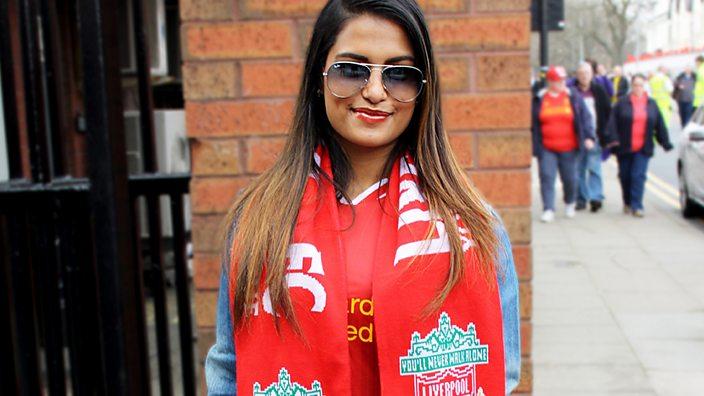 Liverpool fan Melissa Reddy