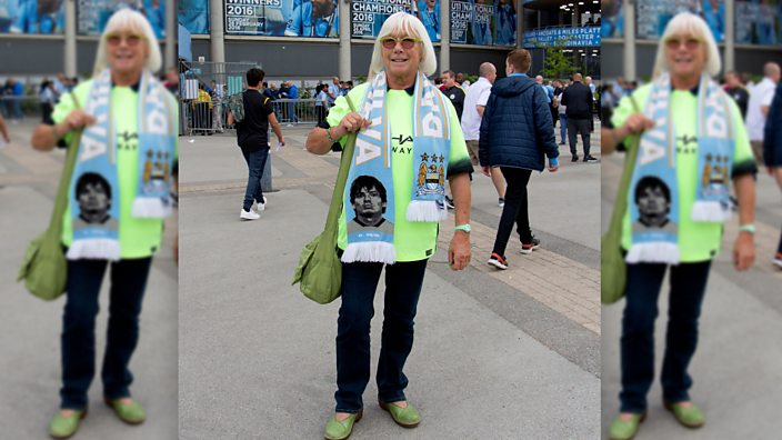 Manchester City fan Joy