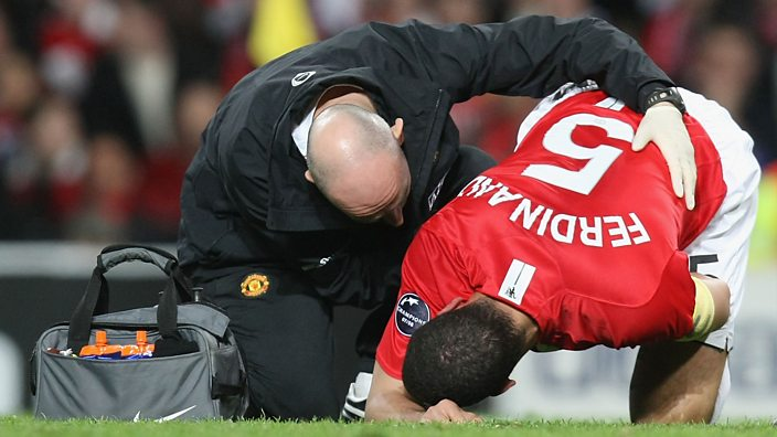 Rio Ferdinand sustains an injury