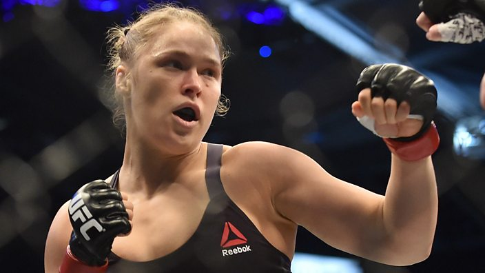 Ronda Rousey fights in the UFC