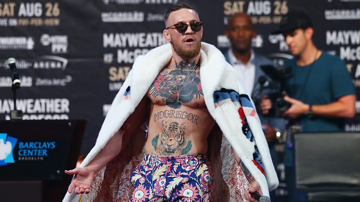 Conor McGregor at the Brooklyn Mayweather v McGregor press conference