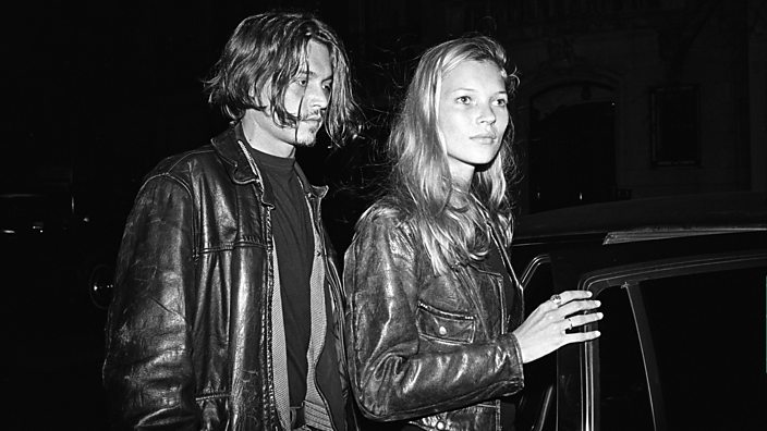 A photo of Kate Moss and Jonny Depp from 1994