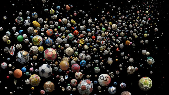 Footballs washed up on beaches around the world