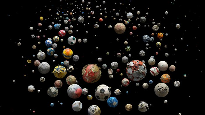 Balls collected from Scotland
