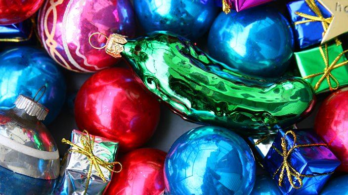 A pickle ornament