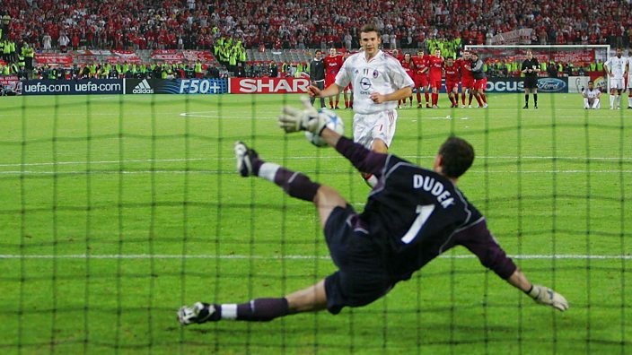 Dudek saves the crucial penalty in Istanbul