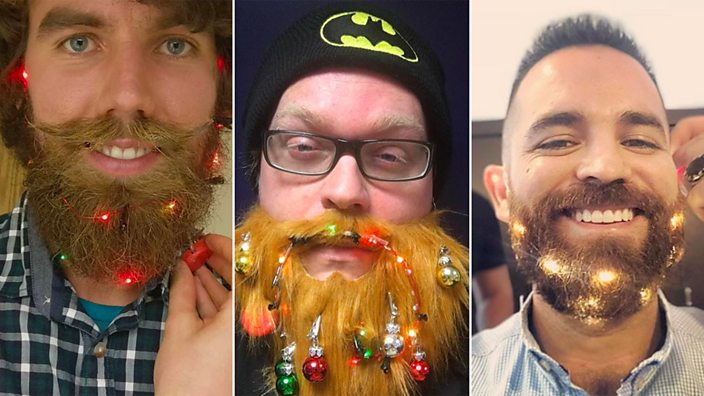 Beard Lights Christmas Tree Hair And Lip Art These Are