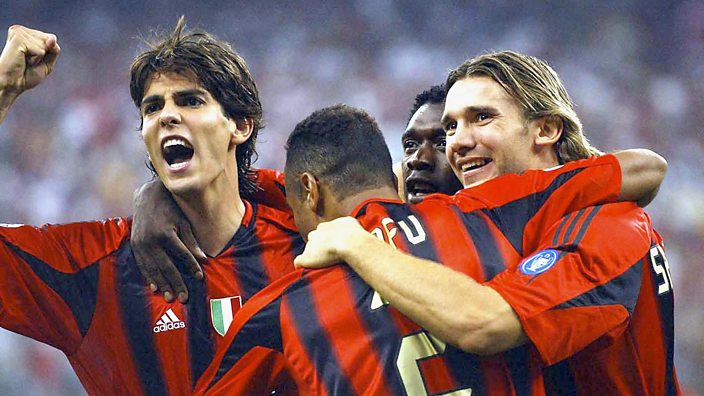 Kaka, Cafu, Clarence Seedorf and Shevchenko all started AC Milan's 2005 Champions League final against Liverpool.