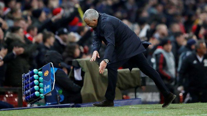 Jose Mourinho trashes a crate
