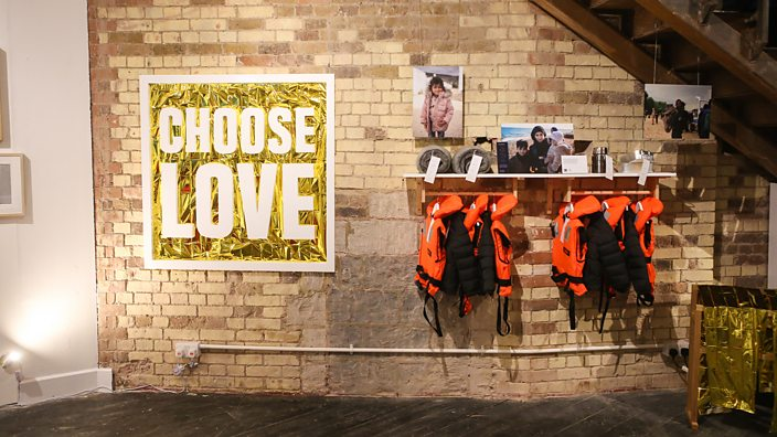 Interior of the Choose Love shop