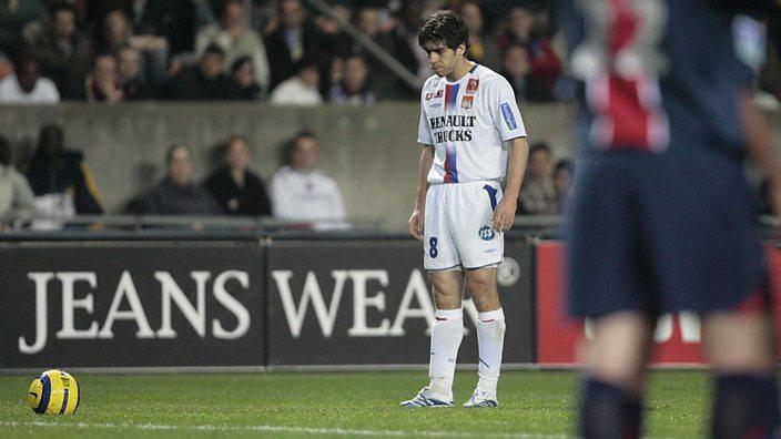 Juninho studies the ball