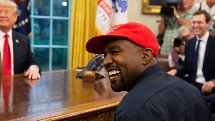 Kanye West meets President Donald Trump