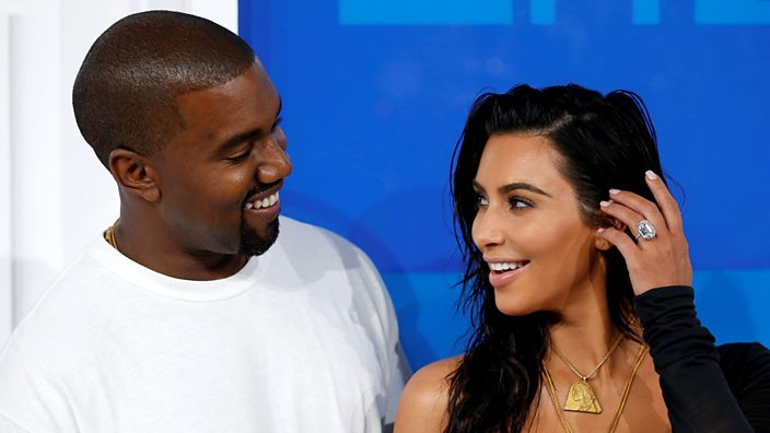 Kanye and Kim Kardashian West