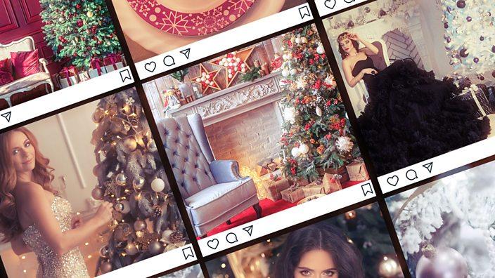 An social media feed of Christmas themed photos
