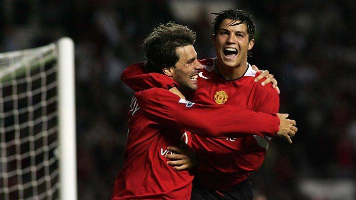 Ruud van Nistelrooy with Cristiano Ronaldo