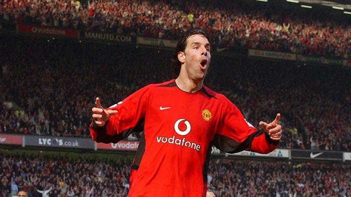 Ruud van Nistelrooy celebrates his stunning goal against Fulham