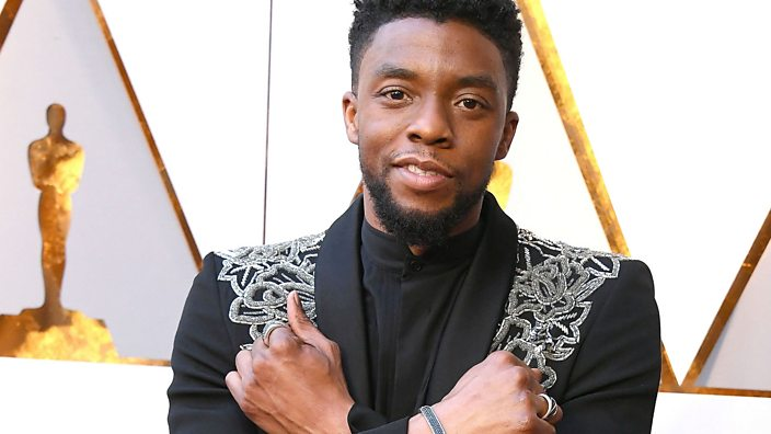Chadwick Boseman at the 2018 Academy Awards