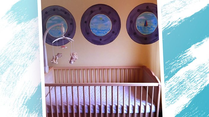 Charlie's cot and room