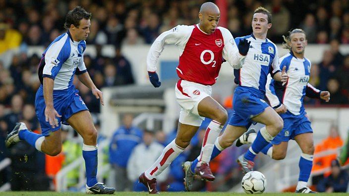 Henry v Blackburn Rovers in December 2003