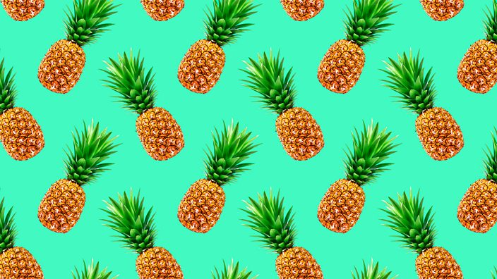 A colourful pineapple pattern