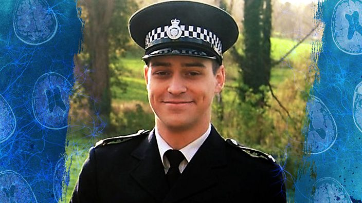 Andrew Knight in police uniform