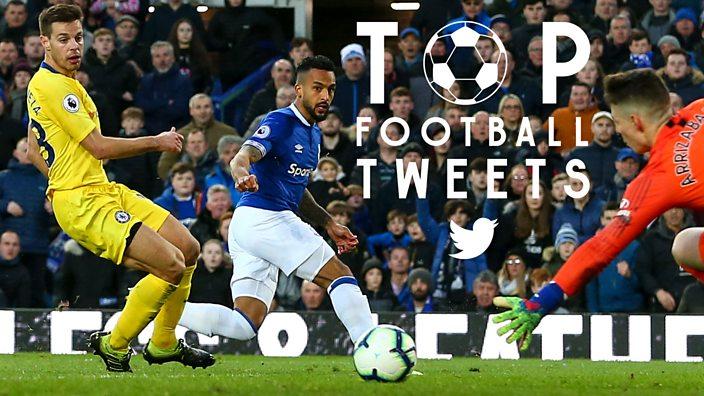 Theo Walcott slides the ball towards goal