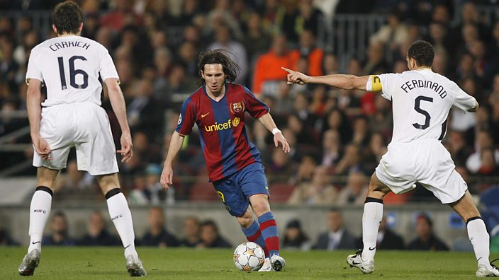 Ferdinand keeping Lionel Messi quiet in 2008