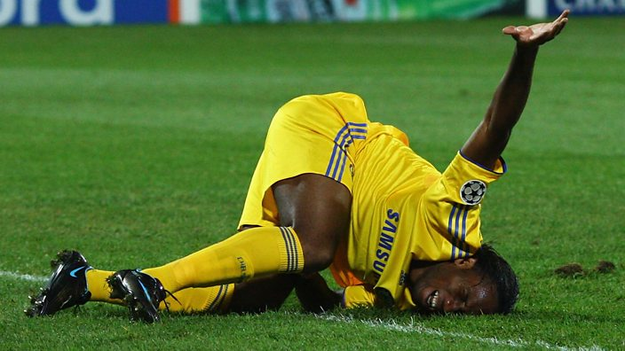 Didier Drogba in pain on the ground was a familiar sight
