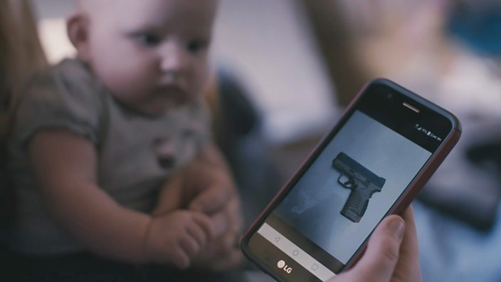 Heather shows Ellie the gun she owns to protect her and her baby