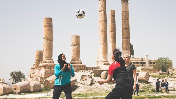 Women play in Jordan