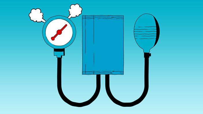 A blood pressure gauge fit to burst