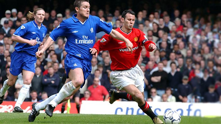 Frank Lampard and Ryan Giggs, Chelsea vs Manchester United, 2002