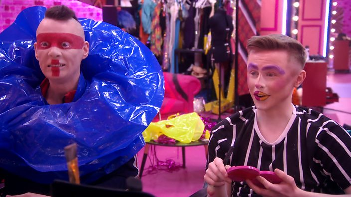 Drag Race UK Episode3 Davina Di Campo and Blu Hydrangea