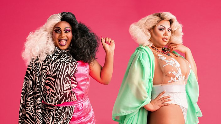 UK drag queens Vinegar Strokes and Sum Ting Wong