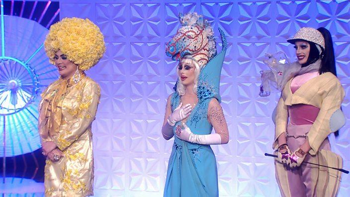 Drag Race UK queens Baga Chips, Blu Hydrangea and Divina de Campo