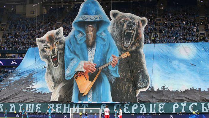Zenit St. Petersburg tifo