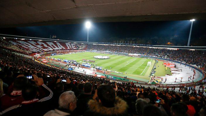 Red Star Belgrade tifo