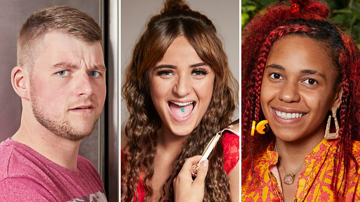 A composite image showing three of the housemates from BBC Three show House Share